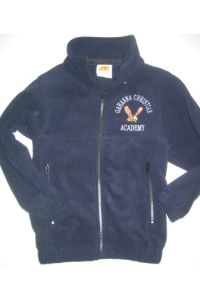 Navy Full-Zip Fleece with GCA logo