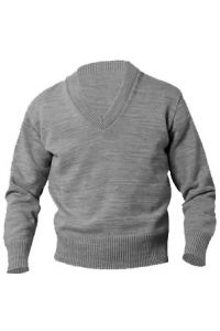 Grey V-Neck Pullover Sweater with FC IRISH