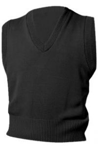 Black V-Neck Vest Sweater