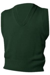 Green V-Neck Vest Sweater