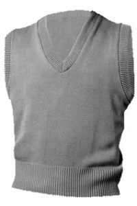 Grey V-Neck Vest Sweater