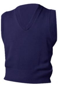 Navy V-Neck Vest Sweater
