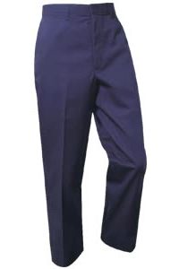 Boys Navy Flat Front Pants