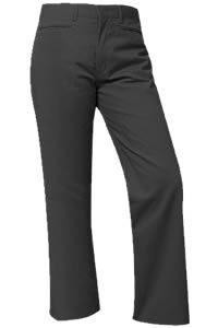 Girls Black Mid-Rise Pants