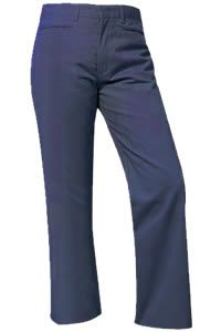 Girls Navy Flat Fronts Pants