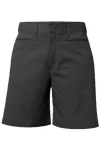 Girls Black Mid-Rise Shorts