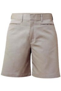 Girls Khaki Flat Front Shorts
