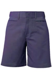 Girls Navy Flat Front Shorts
