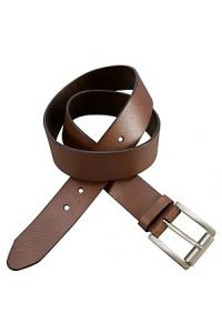 Thick Brown Leather Belt