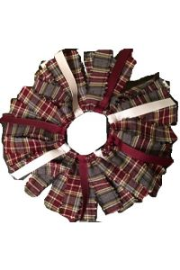 Performance Academies Ribbons & Plaid on Elastic