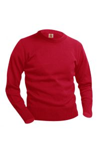 Red Crew-Neck Pullover Sweater