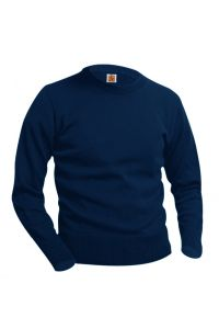 Navy Crew-Neck Pullover Sweater