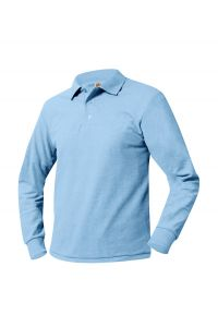 Light Blue Long Sleeve Polo