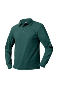 Green LS Polo with FC IRISH