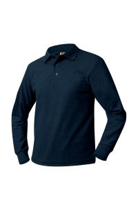 Navy Long Sleeve Polo with LCCS