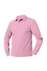 CCPSG Pink Long Sleeve Polo