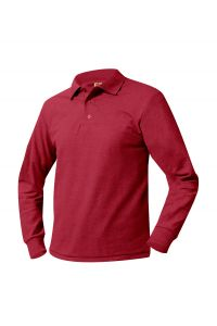 Red Long Sleeve Polo with LCCS