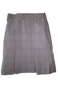 CCPSG Plaid Kick-Pleat Skirt