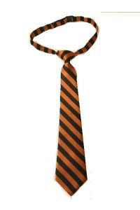 Orange and Black Stripe Boys Pre-Tie