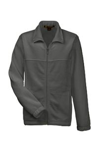 Grey Full-Zip Fleece Jacket