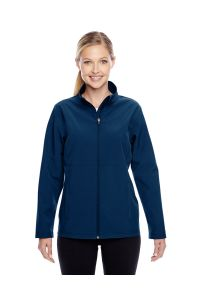Ladies Navy Soft Shell Jacket with LCCS Crest - Classroom Approved
