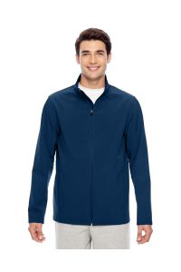Mens Navy Soft Shell Jacket with LCCS Crest - Classroom Approved