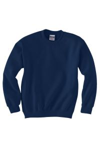 Navy Crewneck Sweatshirt printed with Saint Mary German Village Crest