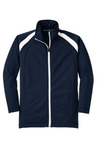 Navy Athletic Jacket with Saint Mary School German Village Crest