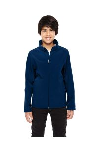 Youth Navy Soft Shell Jacket with LCCS Crest - Classroom Approved