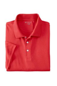 Red WICKING Short Sleeve Polo with LCCS